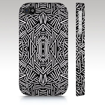 Black and White Tribal Aztec iPhone 4s iPhone 5 case Clearance SALE, artistic iPhone 4s case on sale ready to ship