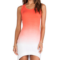Saint Grace Jo Sunset Jersey Dress in Orange
