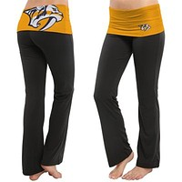 Nashville Predators - Flip Down Waistband Logo Juniors Yoga Pants