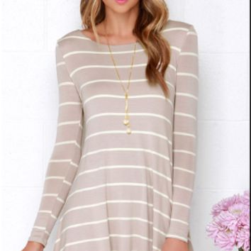 Plug V Neck Stripe Dress