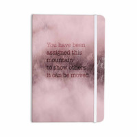 """Suzanne Carter """"Mountain"""" Pink Digital Typography Everything Notebook"""
