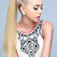 TIE ON PONYTAIL LONG MAGIC STRAIGHT HAIR