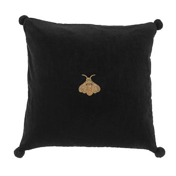 Black Bee Velvet Pillow | Eichholtz Lacombe