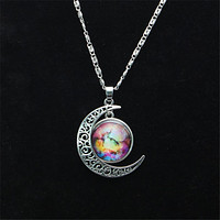 Star Moonstone Necklace Pendant Necklaces