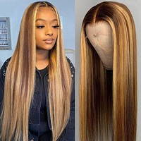 13X4 13X6x1 Ombre Straight Lace Front Wig
