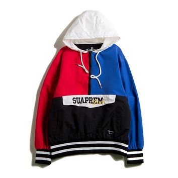 Patchwork Tops Hip-hop Couple Jacket [1893686804534]