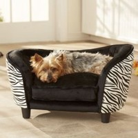 Enchanted Home Pet Snuggle Bed Zebra Dog Bed:Amazon:Pet Supplies