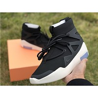 NIKE Air Fear of God 1 FOG Black White Men Sport Basketball Shoes Sneaker Shoes