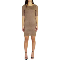 Audrie Suede Shift Dress