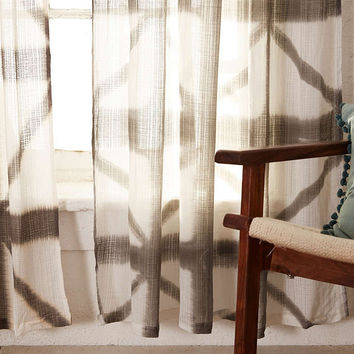 Indu Dyed Curtain in Grey - Urban Outfitters