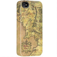 The Lord of the Rings Middle-earth Map iPhone Case  