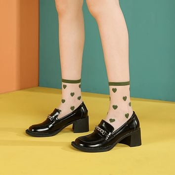 Heartbreaker Sheer Ankle Sock | Green