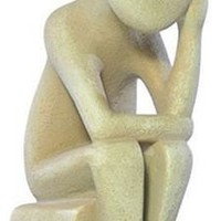 Cycladic Thinker Statue Like Rodin The Thinker Early Greek Adaptation Abstract 6.5H