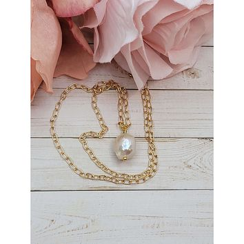 Ivory Baroque Pearl Necklace