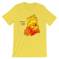 Retro Cool East Germany Population Map T-shirt