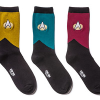 Star Trek TNG Ladies' 3-pack Socks
