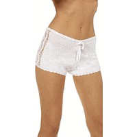 Sexy Pin Up High Rise Crochet Shorts