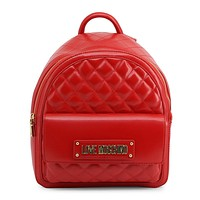 Love Moschino - Women's Red Leather Backpack