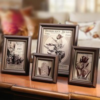 Hot Selling 4 Colours Wooden Picture Frame Wall,Photo Frame Desktop Decorations,Vintage Style Photo Frames,Family Picture Frames