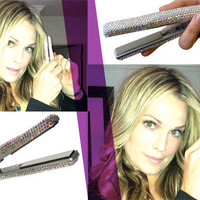 Swarovski Crystal-Embellished Mini Flat Iron by Corioliss - FREE SHIPPING