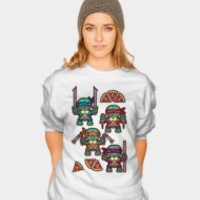 Teenage Mutant Ninja Turtles Pizza Party Sweatshirt By Chobopop Design By Humans