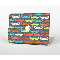 """The Colorful Scratched Mustache Pattern Skin Set for the Apple MacBook Air 11"""""""