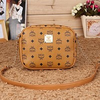 Perfect MCM Women Fashion Leather Satchel Tote Shoulder Bag Crossbody