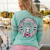 Mint Ruffle Long Sleeve Tee | Jadelynn Brooke