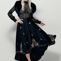 Lotta Stensson x Free People Womens Embroidered Circle Cascade Skirt