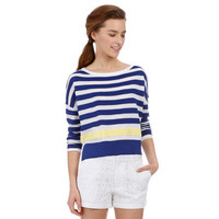 Keds Shoes Official Site - Dropped Shoulder Striped Sweater