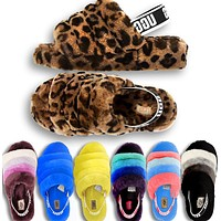 UGG popular seller of casual ladies' matching coral velvet sandals and slippers High quality
