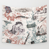 Love Letters Wall Tapestry by Paula Belle Flores