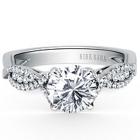 Kirk Kara Pirouetta Split-Shank Twist Diamond Engagement Ring