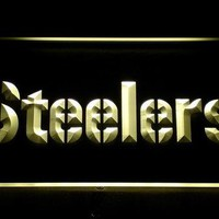 145 Pittsburgh Steelers Bar LED Neon Sign with On/Off Switch 20+ Colors 5 Sizes to choose