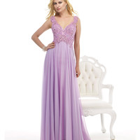 Morrell Maxie 14828 Lilac Lace Bodice Gown 2015 Prom Dresses