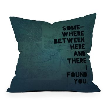 Leah Flores Here And There Two Outdoor Throw Pillow