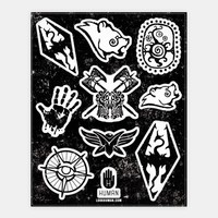 Elder Scrolls Faction Stickers