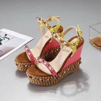Christian Louboutin CL Pyraclou 6cm or 11cm Wedges Style #39 - Best Online Sale