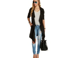 Black Mad Woman Trench Jacket