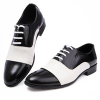 Fashion Leather shoes for men Lace-Up men's Flats Oxford Wedding Shoes MENS Business Formal Shoes