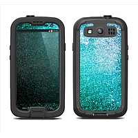 The Grungy Teal Texture Samsung Galaxy S3 LifeProof Fre Case Skin Set