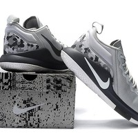 Nike Mens Lebron Zoom Witness 2.0 Gray Camo Sneakers US 8-12