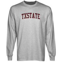 Texas State Bobcats Basic Arch Long Sleeve T-Shirt - Ash