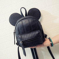 2016 New Women's Leather Backpack Cartoon children backpacks mini back pack backpacks for teenage girls small mouse New Style