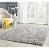 Safavieh Athens Light Grey Shag Rug (3' x 5') | Overstock.com Shopping - The Best Deals on 3x5 - 4x6 Rugs