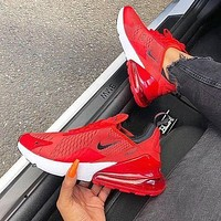 Trendsetter Nike Air Max 270 Flykni  Women Men Fashion Casual Sneakers Sport Shoes