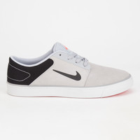 Nike Sb Portmore Premium Mens Shoes Black/Grey  In Sizes