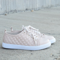 Prance Quilted Sneaker {Nude}