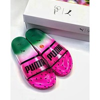 Hot Sale Puma x Sophia Webster New Popular Women Men Summer Cute Transparent Watermelon Slippers Sandals Shoe I-CSXY