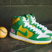 "Nike Dunk High Pro SB ""Oakland Athletic"" 305050-337 Size 36--45"
